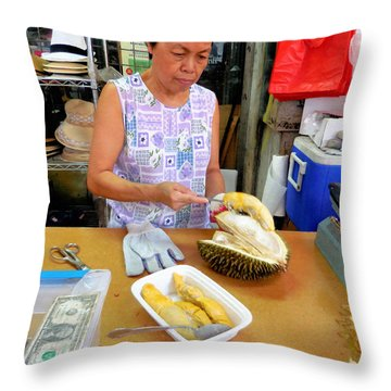 Vendor Selling Durian 2 Painting by Lanjee Chee