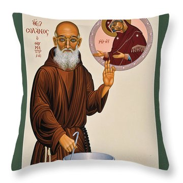 Venerable Fr. Solanus Casey The Healer 038 Throw Pillow