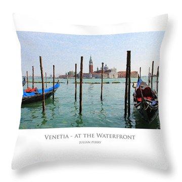 Venetia - At The Waterfront Throw Pillow