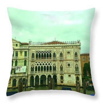 Throw Pillow featuring the photograph Venetian Aternoon by Anne Kotan
