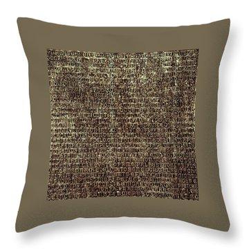 Throw Pillow featuring the photograph Venetian Babel by Anne Kotan