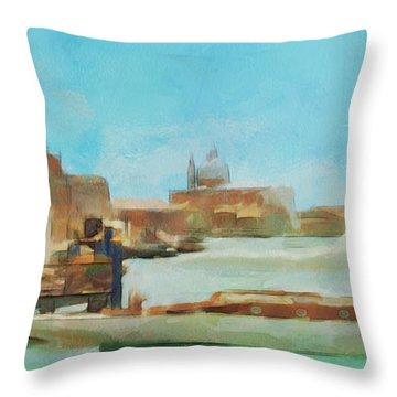 Venetian Canal Throw Pillow by Sergey Lukashin