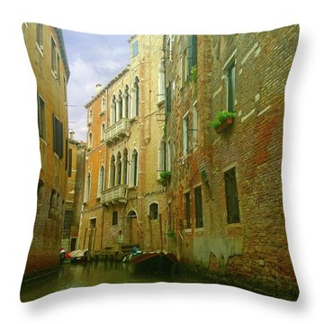 Throw Pillow featuring the photograph Venetian Canyon by Anne Kotan