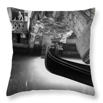 Venetian Daily Scene Throw Pillow