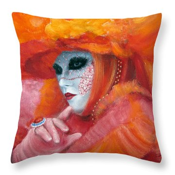 Venetian Flame Throw Pillow