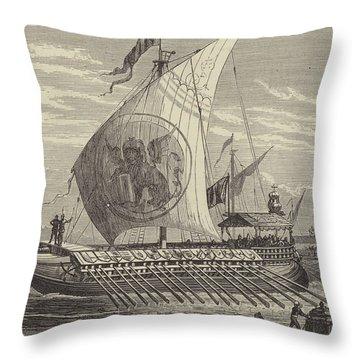 Venetian Galley Throw Pillow