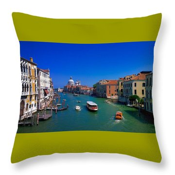 Throw Pillow featuring the photograph Venetian Highway by Anne Kotan