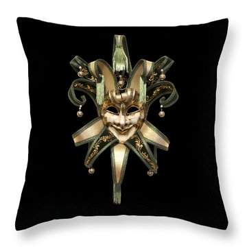 Venetian Mask Throw Pillow by Fabrizio Troiani