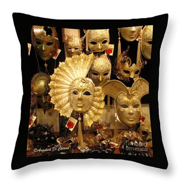 Venetian Masks Throw Pillow