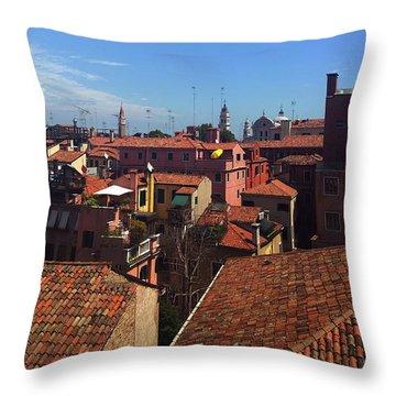 Throw Pillow featuring the photograph Venetian Skyline by Anne Kotan