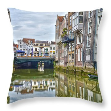 Venetian Vibe In Dordrecht Throw Pillow