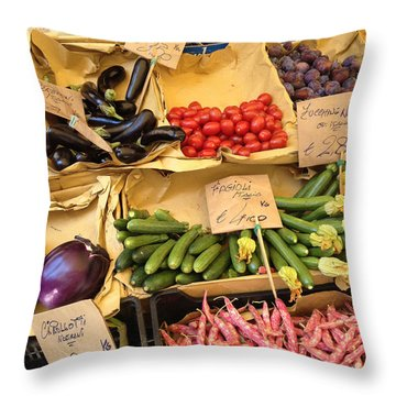 Venetianvegetables Throw Pillow