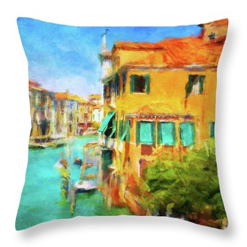 Throw Pillow featuring the photograph Venezia Afternoon by Connie Handscomb