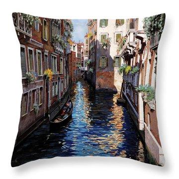Venezia Blu Throw Pillow