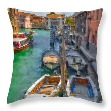 Venezia. Cannaregio Throw Pillow