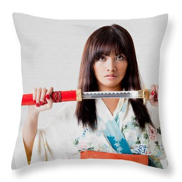 Vengeful Innocence  Throw Pillow
