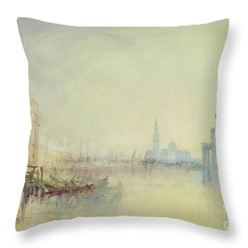 Venice - The Mouth Of The Grand Canal Throw Pillow by Joseph Mallord William Turner