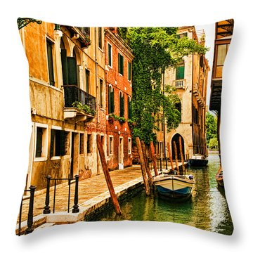 Venice Alley Throw Pillow