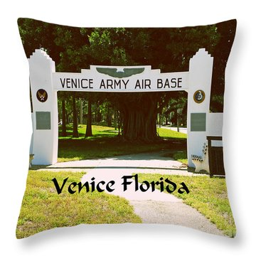 Venice Army Air Force Throw Pillow by Gary Wonning