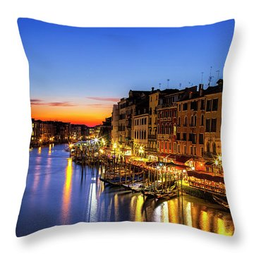 Venice At Twilight Throw Pillow