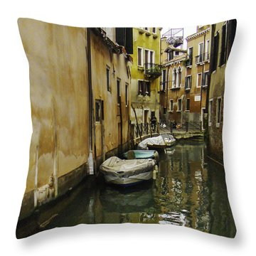 Venice Backroad Throw Pillow