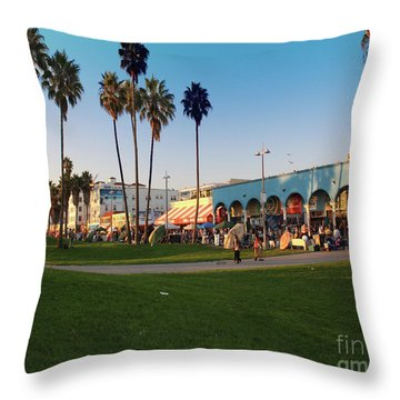 Venice Beach Throw Pillow