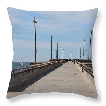 Venice Beach Pier Throw Pillow by Ana V Ramirez
