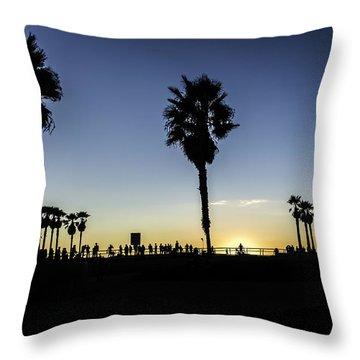 Throw Pillow featuring the photograph Venice Beach Skatepark by Chris Cousins
