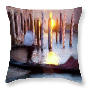 Venice Blue Hour 1 Throw Pillow by Heiko Koehrer-Wagner
