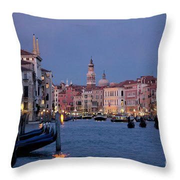 Venice Blue Hour 2 Throw Pillow