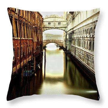 Venice Bridge Of Sighs Throw Pillow