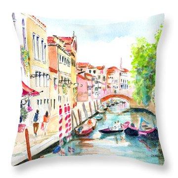Venice Canal Boscolo Venezia Throw Pillow