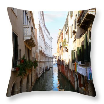 Venice Canal Throw Pillow by Katie Wing Vigil