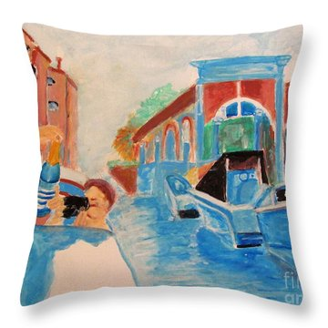 Venice Celebration Throw Pillow
