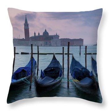 Throw Pillow featuring the photograph Venice Dawn IIi by Brian Jannsen