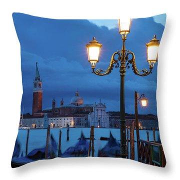 Venice Dawn V Throw Pillow by Brian Jannsen
