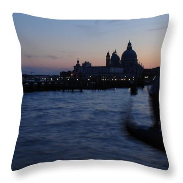 Venice Dusk Throw Pillow by Ed Lee