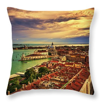 From The Bell Tower In Venice, Italy Throw Pillow