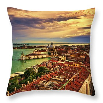 Venice From The Bell Tower Throw Pillow