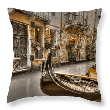 Venice Gold Throw Pillow