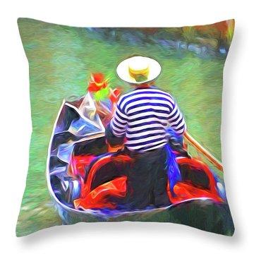 Venice Gondola Series #3 Throw Pillow by Dennis Cox