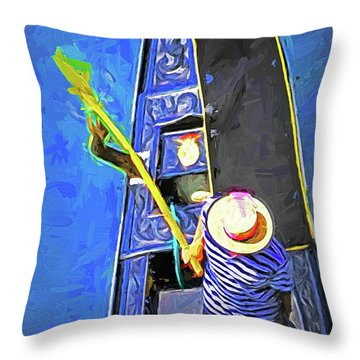 Venice Gondola Series #4 Throw Pillow