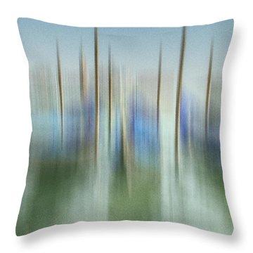 Venice Gondolas Impression 1 Throw Pillow by Marty Garland