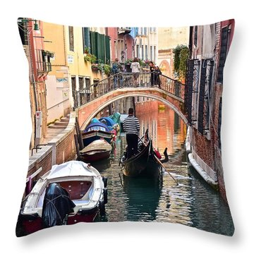 Venice Gondolier Throw Pillow