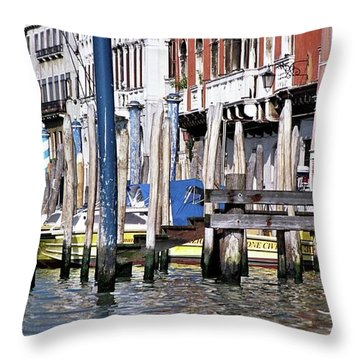Throw Pillow featuring the photograph Venice Grand Canal by Allen Beatty