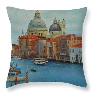 Venice Grand Canal I Throw Pillow