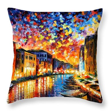 Venice - Grand Canal Throw Pillow