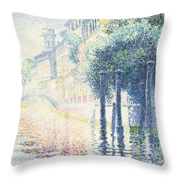 Venice Throw Pillow by Henri-Edmond Cross
