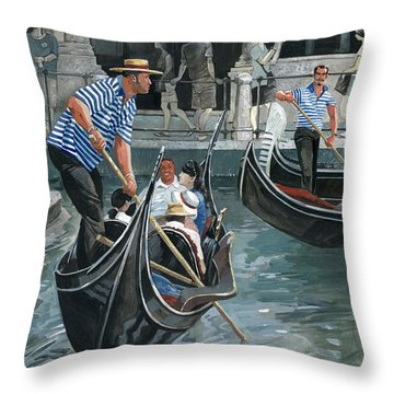 Venice. Il Bacino Orseolo Throw Pillow