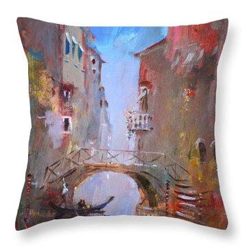 Venice Impression Throw Pillow